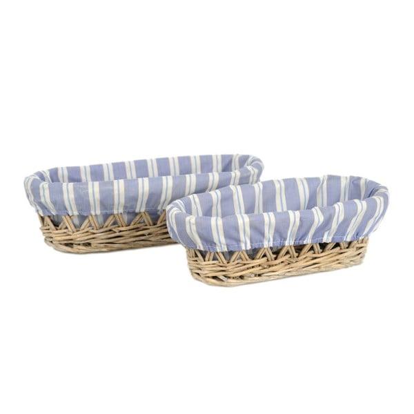 Zestaw 2 koszyków Bread Willow, 30x14x9 cm