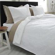 Biała narzuta dwuosobowa z 2 poszewkami na poduszki Sleeptime Clara 260x250 cm