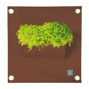 Brązowa doniczka/organizer wiszący The Green Pockets Amma, 45 x 50 cm