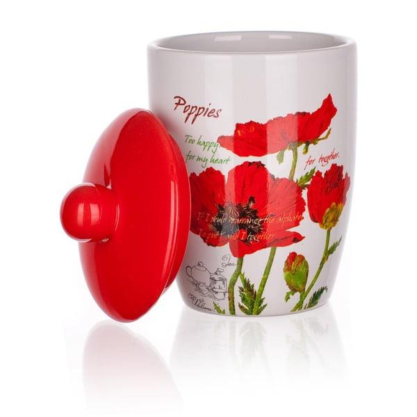 Ceramiczny pojemnik z wieczkiem Banquet Red Poppy, 660 ml