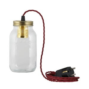 Lampa JamJar Lights, bordowy skręcony kabel