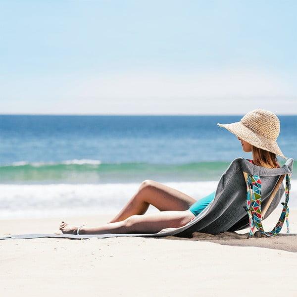 Leżak i ręcznik plażowy w jednym Sun Seat Basalt Geo