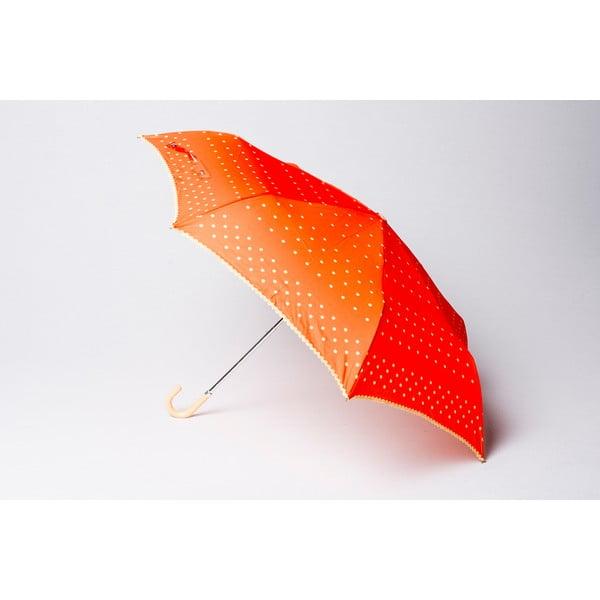 Składany parasol Dots, pomarańczowy
