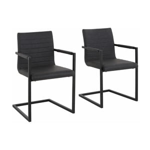 Zestaw 2 szarych krzeseł z podłokietnikami Støraa Sandra