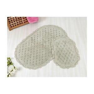 Zestaw 2 szarych dywaników łazienkowych Irya Home Pamuk, 60x100 cm i 40x60 cm
