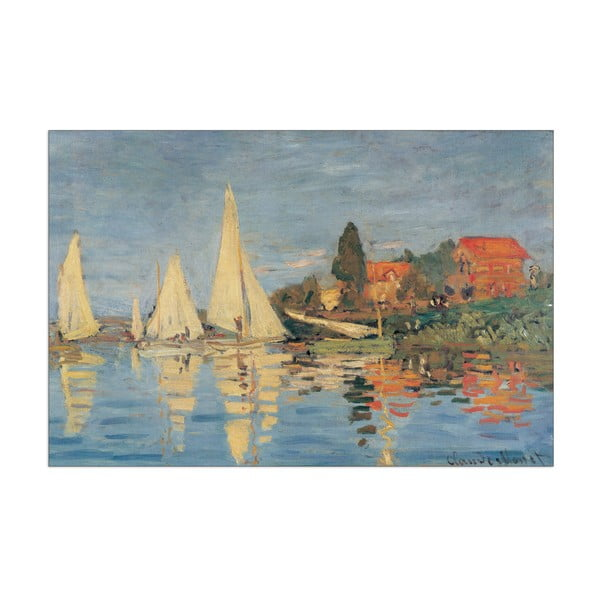 Obraz Claude Monet - Regata at Bargenteuil, 90x60 cm