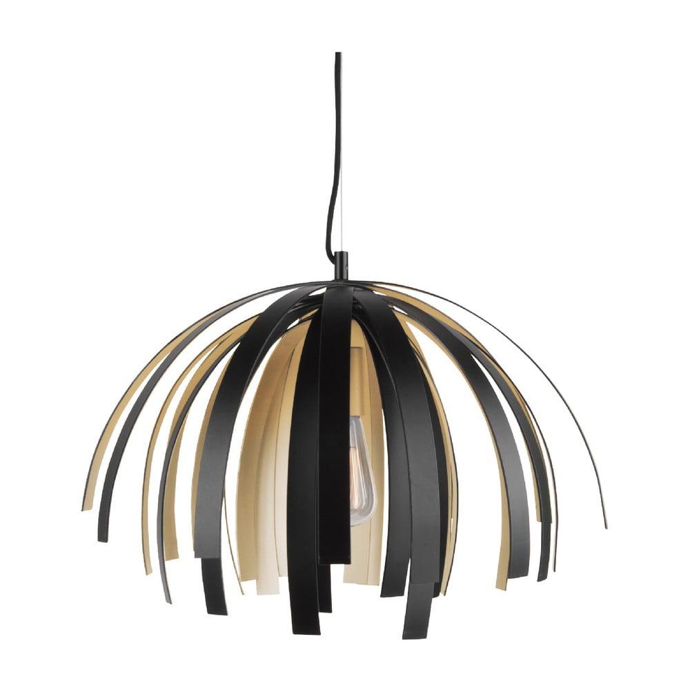Czarna lampa sufitowa z detalami w kolorze złota Leitmotiv Willow