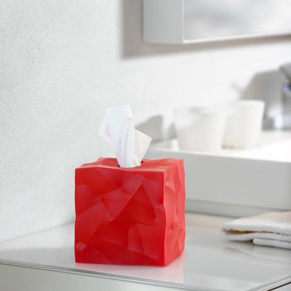 Pudełko na chusteczki Wipy Cube Czerwone