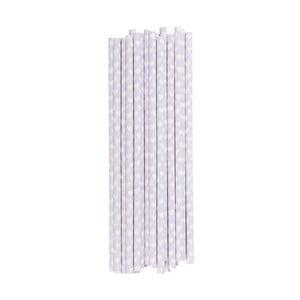 Papierowe słomki, 25 szt. Lavender Hearts