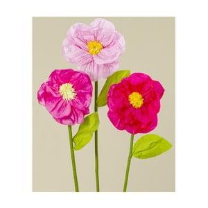 Zestaw 3 papierowych kwiatów dekoracyjnych Boltze Rosalie