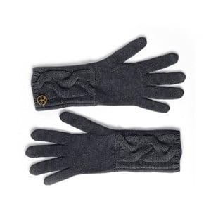 Czarne rękawice kaszmirowe Bel cashmere Lela