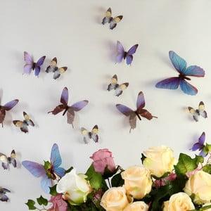 Naklejka Motyle 3D, niebieskie