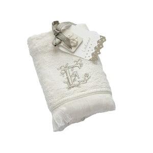 Ręcznik z inicjałem E, 30x50 cm
