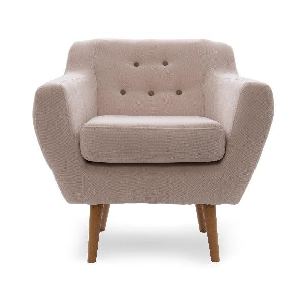 Fotel z naturalnymi nogami VIVONITA Kelly Beige