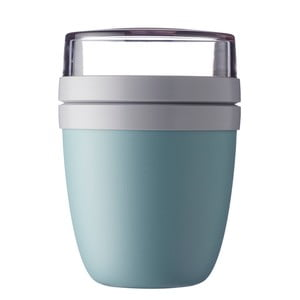 Turkusowy pojemnik śniadaniowy na jogurt Rosti Mepal Ellipse