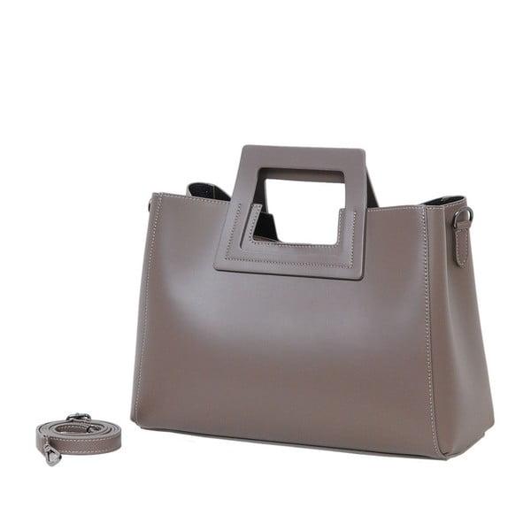 Beżowa torebka skórzana Andrea Cardone Pietro