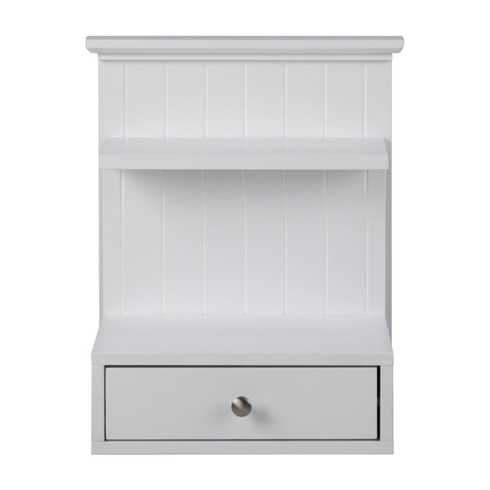 Biała ścienna szafka nocna z 1 szufladą Actona Linnea