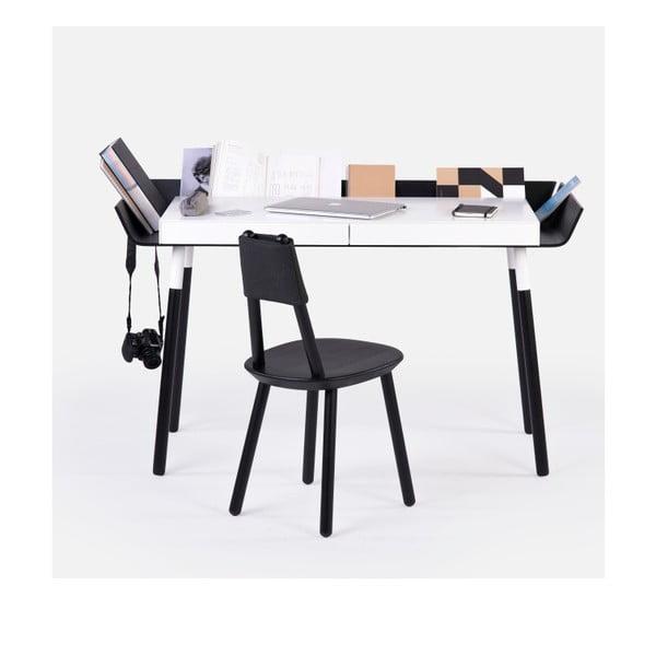 Czarno-białe   biurko z 2 szufladami EMKO My Writing