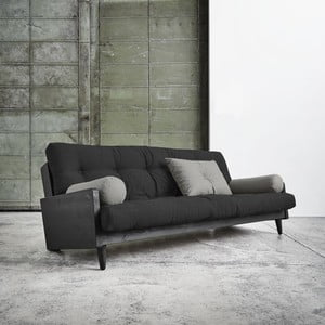 Sofa rozkładana Karup Indie Black/Dark Grey/Granite Grey