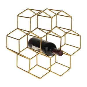 Stojak na wino Metal Gold