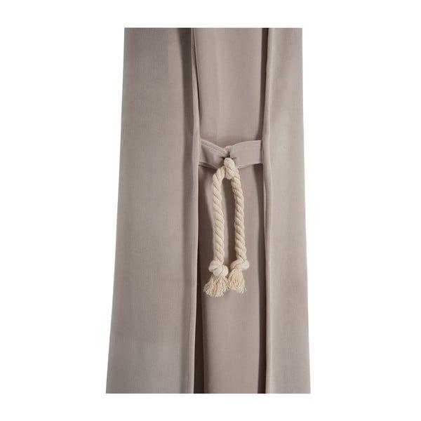 Beżowa   zasłona z aksamitu Velvet, 135x270 cm