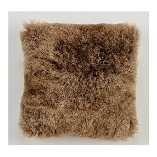 Dwustronna futrzana poduszka z krótkim włosem Rusty, 50x50 cm