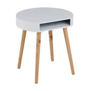Biały stolik z przegródką Actona Ela