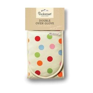 Podwójna rękawica kuchenna z bawełny Cooksmart England Spots