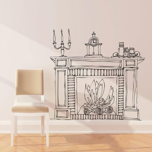 Naklejka Fireplace, 110x114 cm