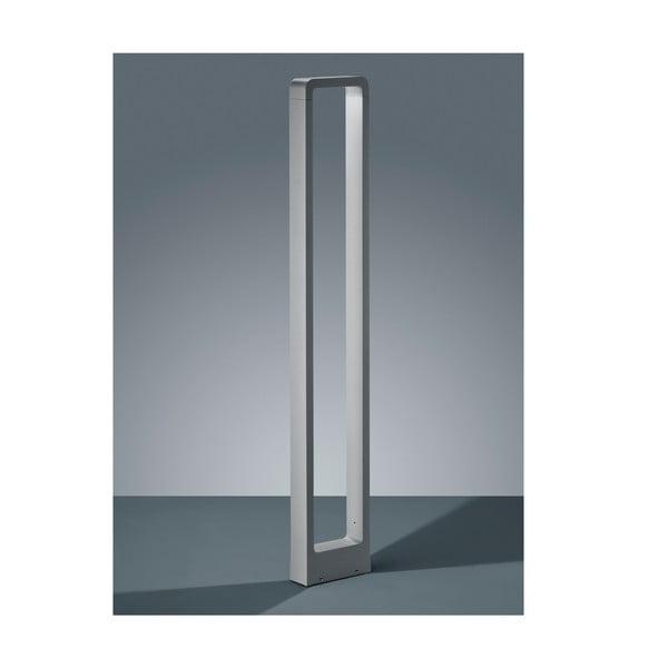 Jasnoszara zewnętrzna lampa stojąca Trio Reno, wys.100 cm