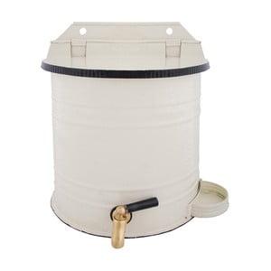 Biały pojemnik z kranem na wodę Esschert Design Garden