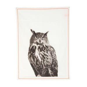 Ścierka kuchenna Plain White Owl, 50x70 cm
