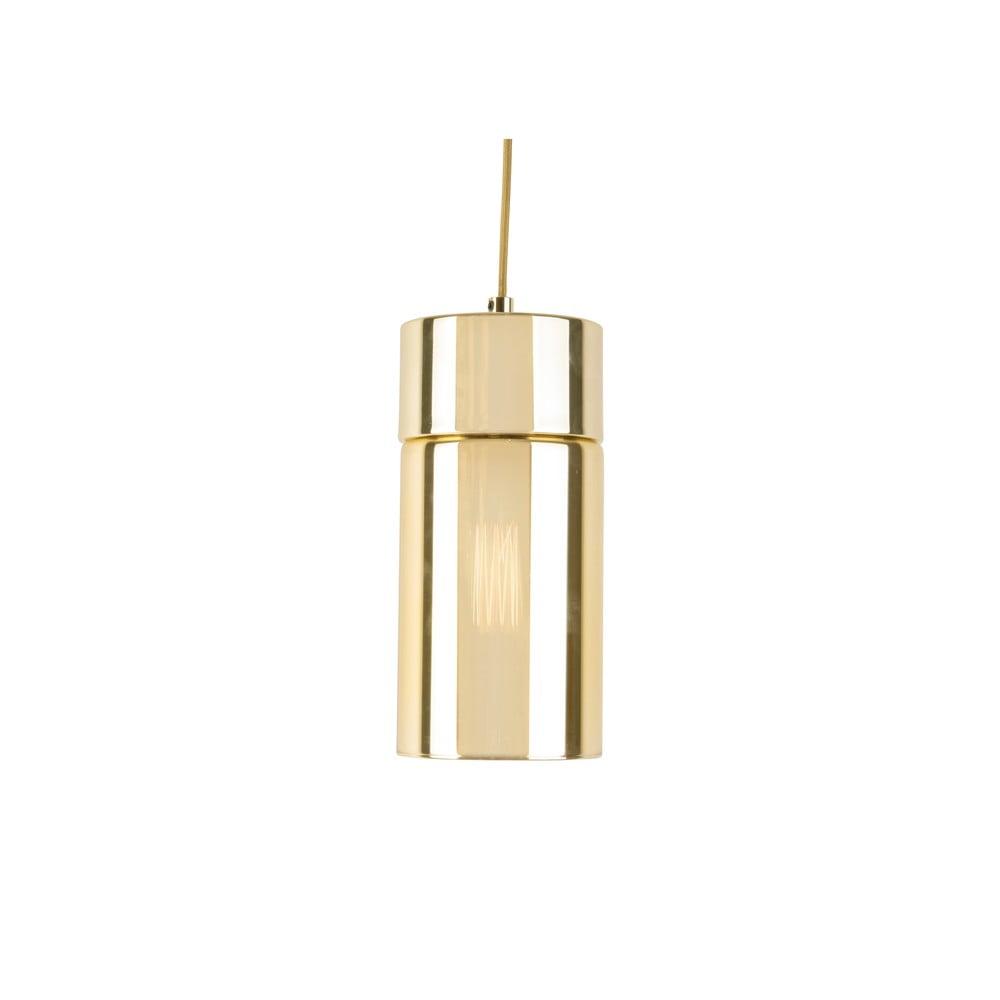 Lampa wisząca w złotym kolorze z lustrzanym połyskiem Leitmotiv Lax