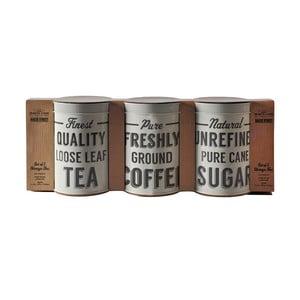 Zestaw 3 pojemników na kawę, herbatę i cukier Mason Cash Baker Lane