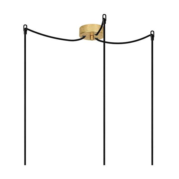 Lampa wisząca potrójna Cero, złoty/czarny/złoty