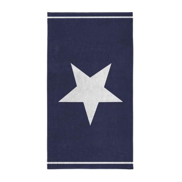 Niebieski ręcznik Seahorse Star,100x180cm