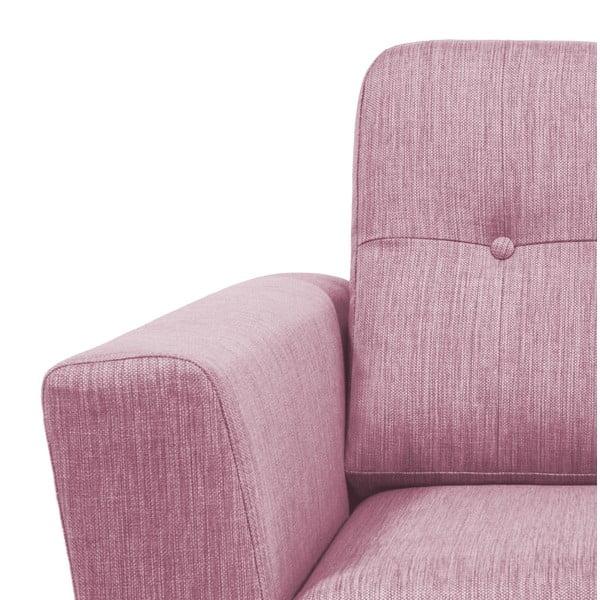 Jasnoróżowa sofa 3-osobowa Vivonita Harlem