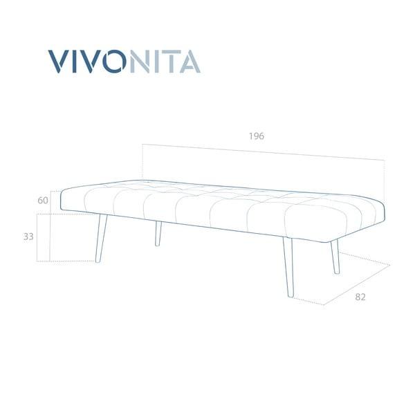 Ciemnopomarańczowy szezlong Vivonita Ella