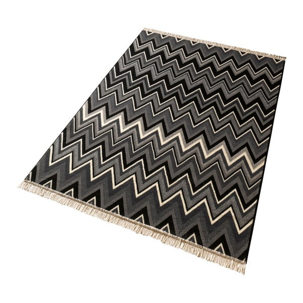 Dywan Hanse Home Fringe Black, 80 x 300 cm