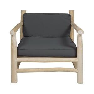 Szary fotel z drewna tekowego Santiago Pons Capri