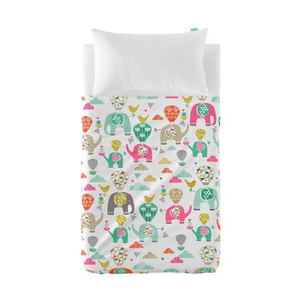 Narzuta i poszewka na poduszkę Moshi Moshi Elephant Parade, 120x180 cm