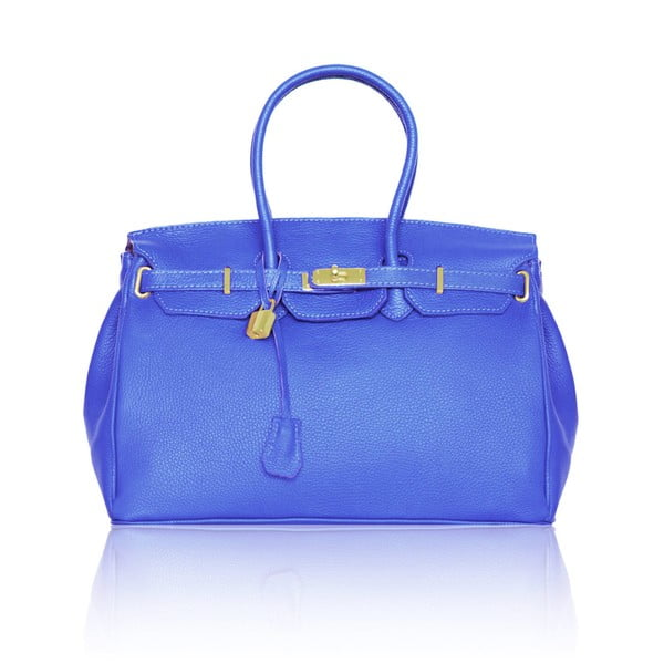 Skórzana torebka Emdo, niebieska