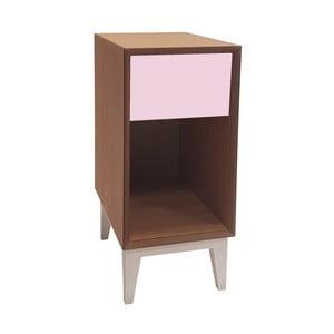 Mała szafka nocna z różową szufladą Ragaba PIX