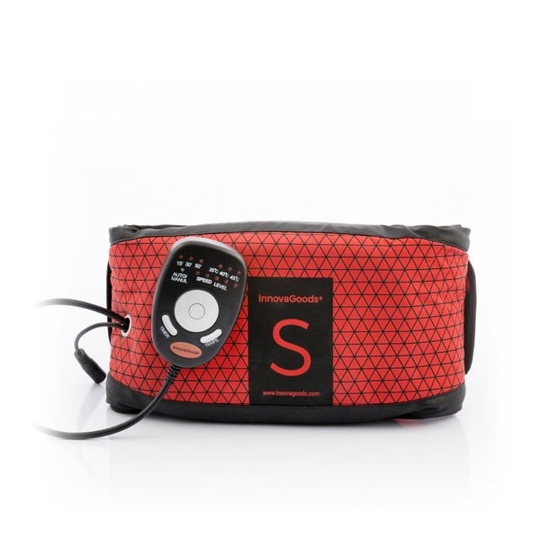 Czerwony pas wibrujący z efektem sauny InnovaGoods S