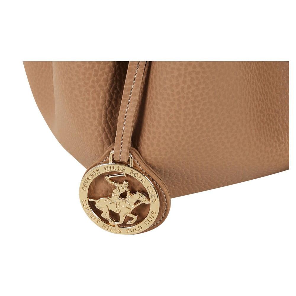b014f1c6d30f2 ... Beżowa torebka ze skóry ekologicznej Beverly Hills Polo Club Kate ...