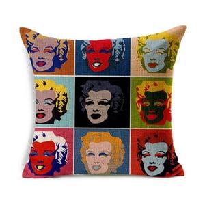 Poszewka na poduszkę Marilyn Warhol, 45x45 cm