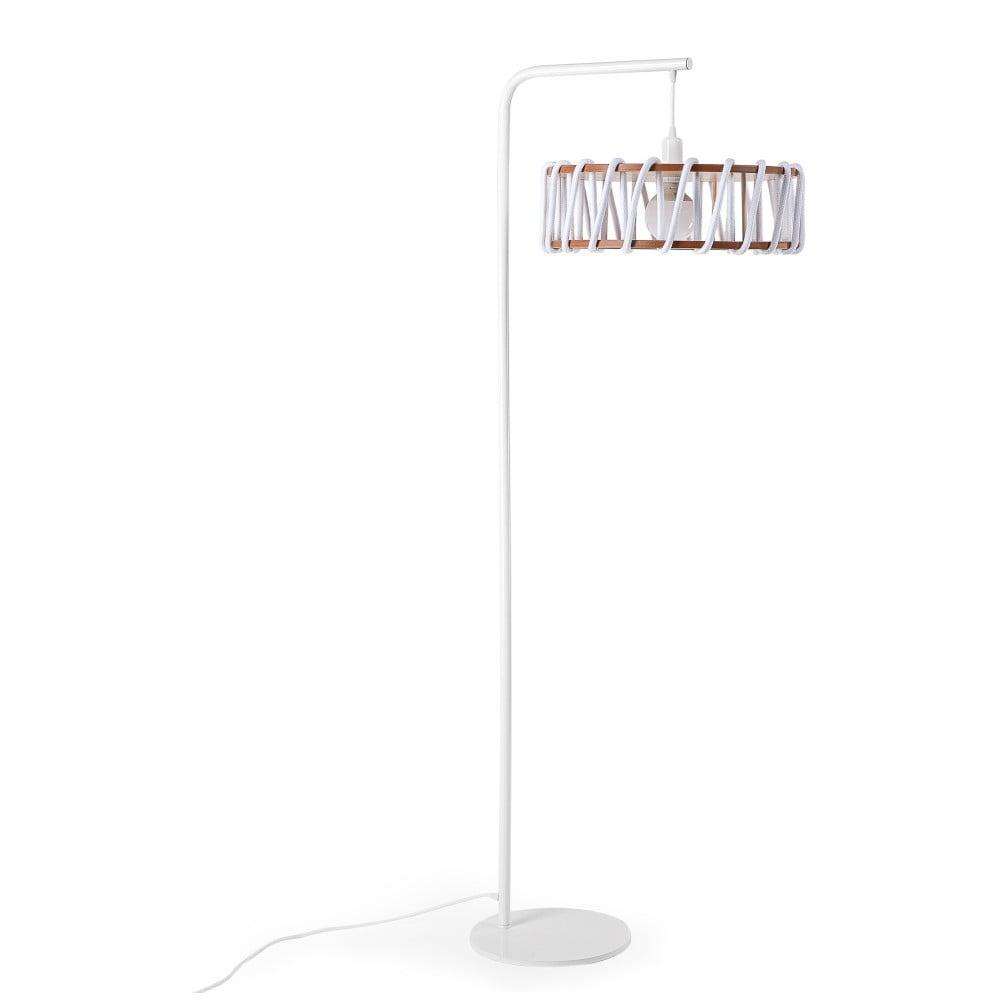 Lampa stojąca z białą konstrukcją i dużym białym kloszem EMKO Macaron