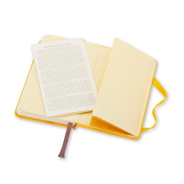 Jaskrawożółty notes w linie Moleskine XS