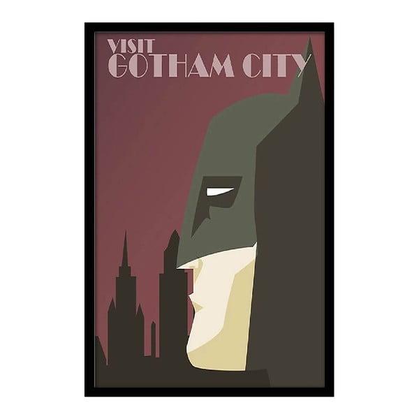 Plakat Visit Gotham City, 35x30 cm