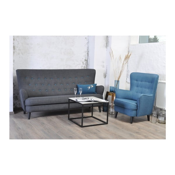 Niebieski fotel Vivonita Fifties